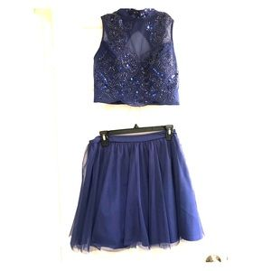 Royal Blue Two Piece Formal/Prom Dress